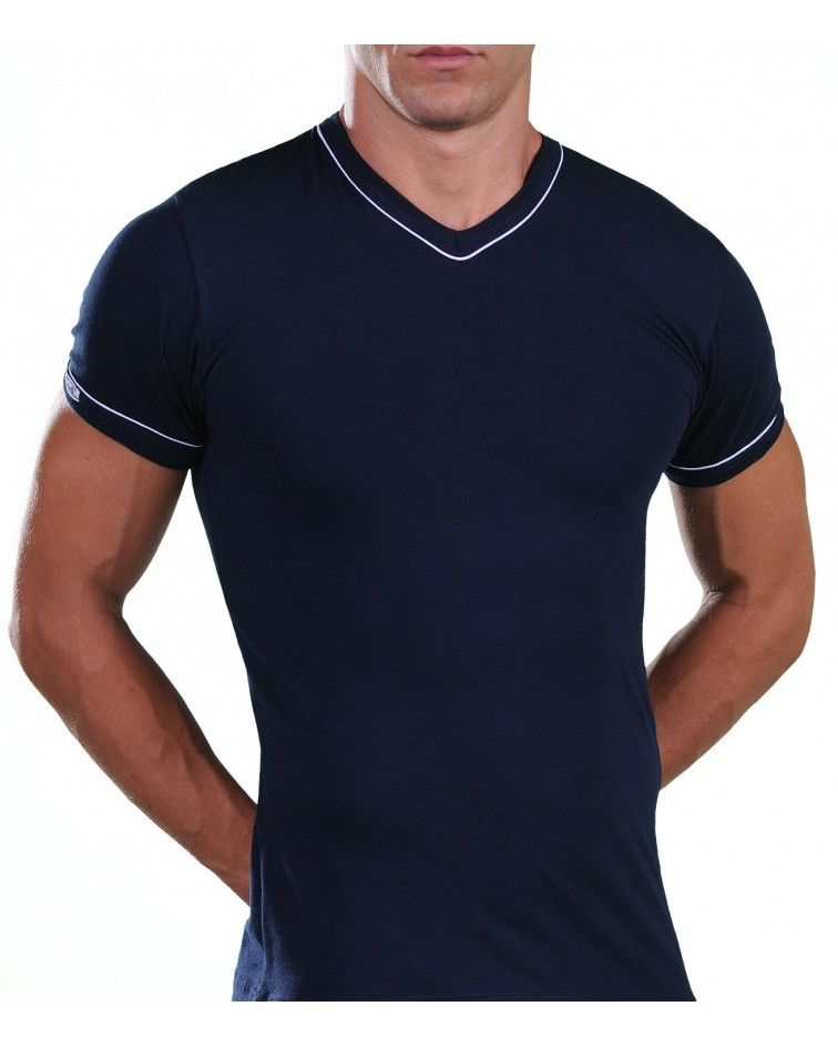 T-Shirt, V Neck, blue