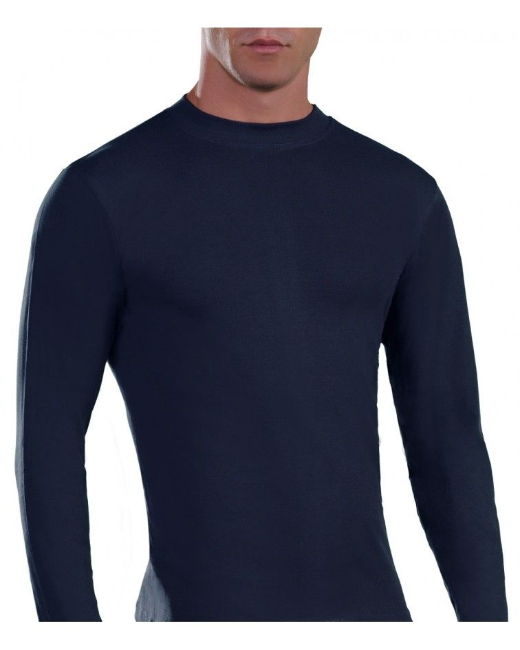 Mens Long sleeve, crew neck, blue