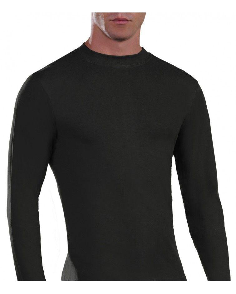 Mens Long sleeve, crew neck, black