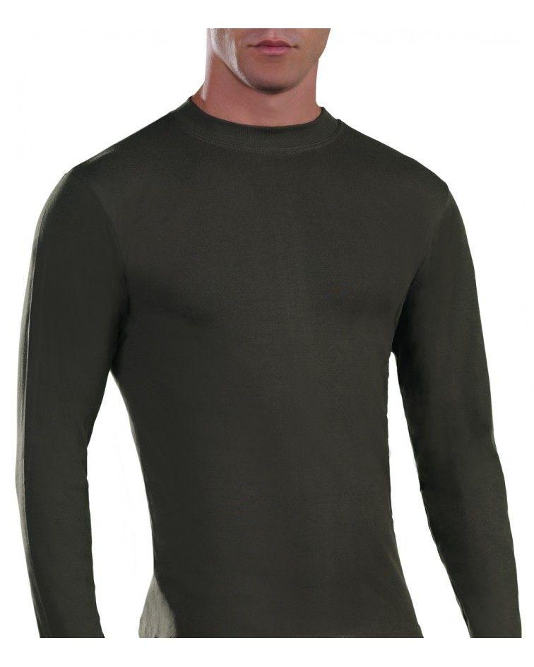 Mens Long sleeve, crew neck, khaki