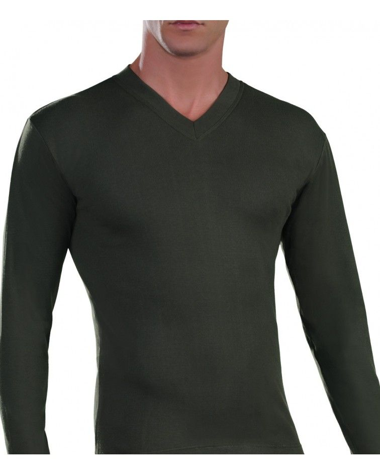 T-Shirt Long Sleeve, V Neck