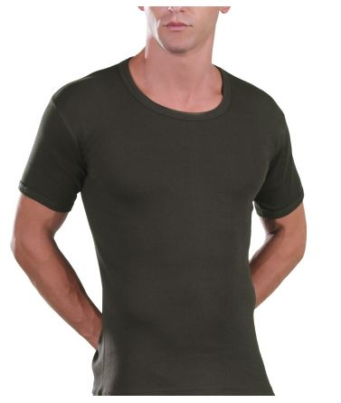 Open Neck T-Shirt, khaki