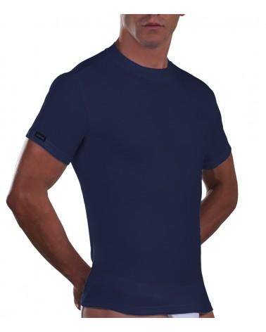 T-Shirt, crew neck, Cotton, blue
