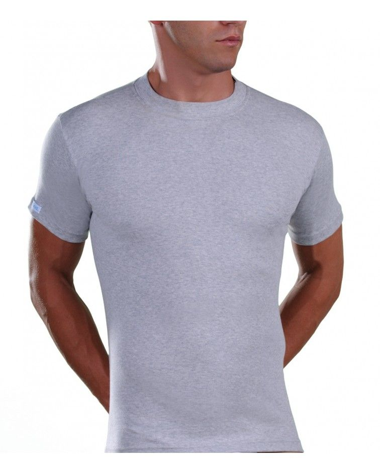 T-Shirt, Melange, Grey