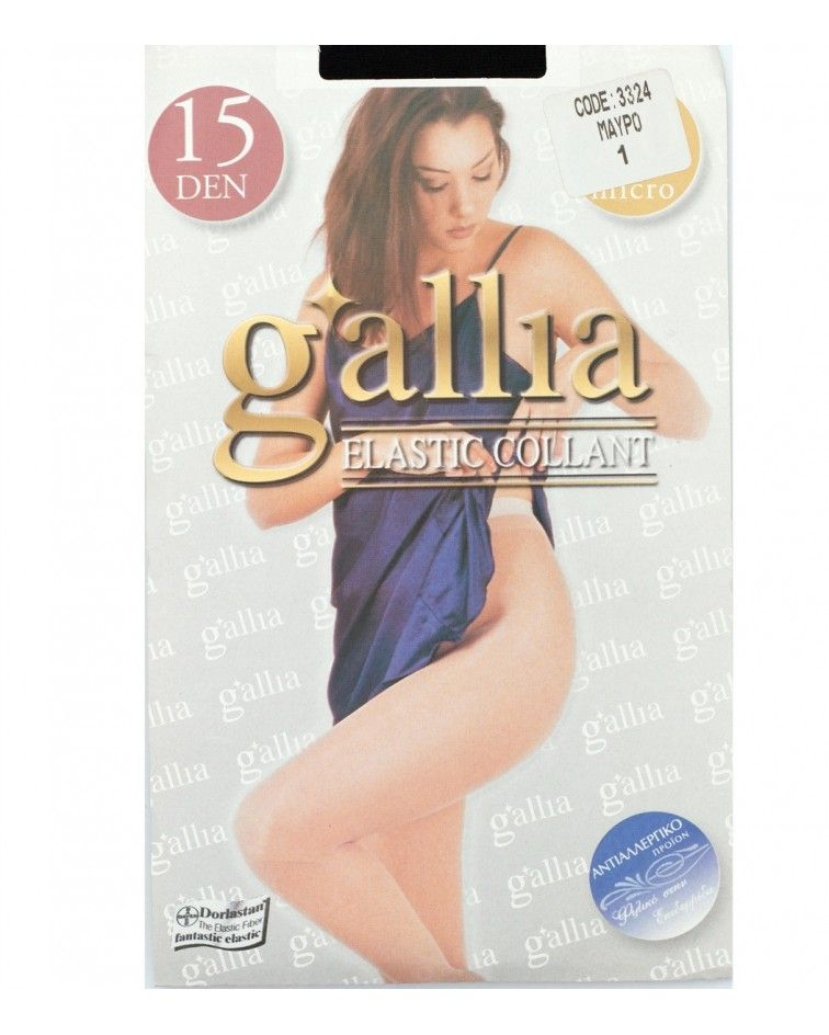 Gallia tights, mat, trasparent, opac 15Den
