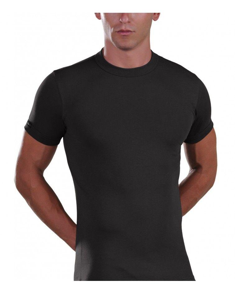 Men, T-Shirt, Elastic, black