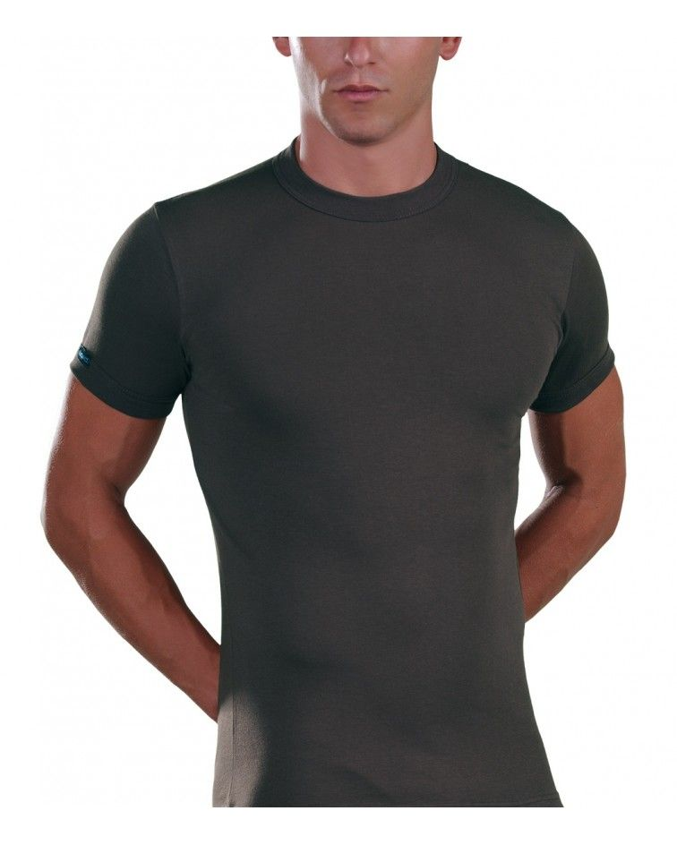 Men, T-Shirt, Elastic, charcoal
