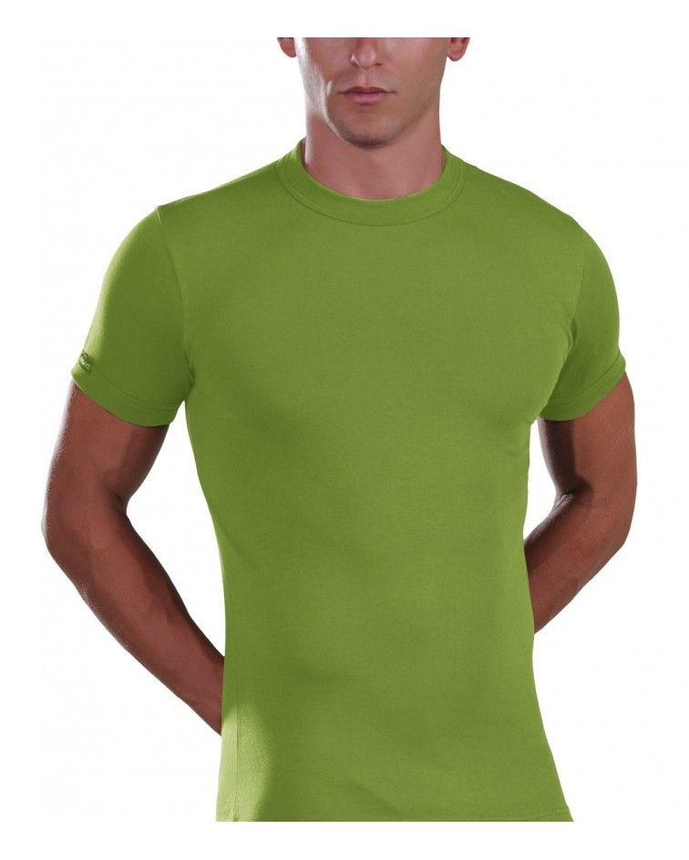 Men, T-Shirt, Elastic, green