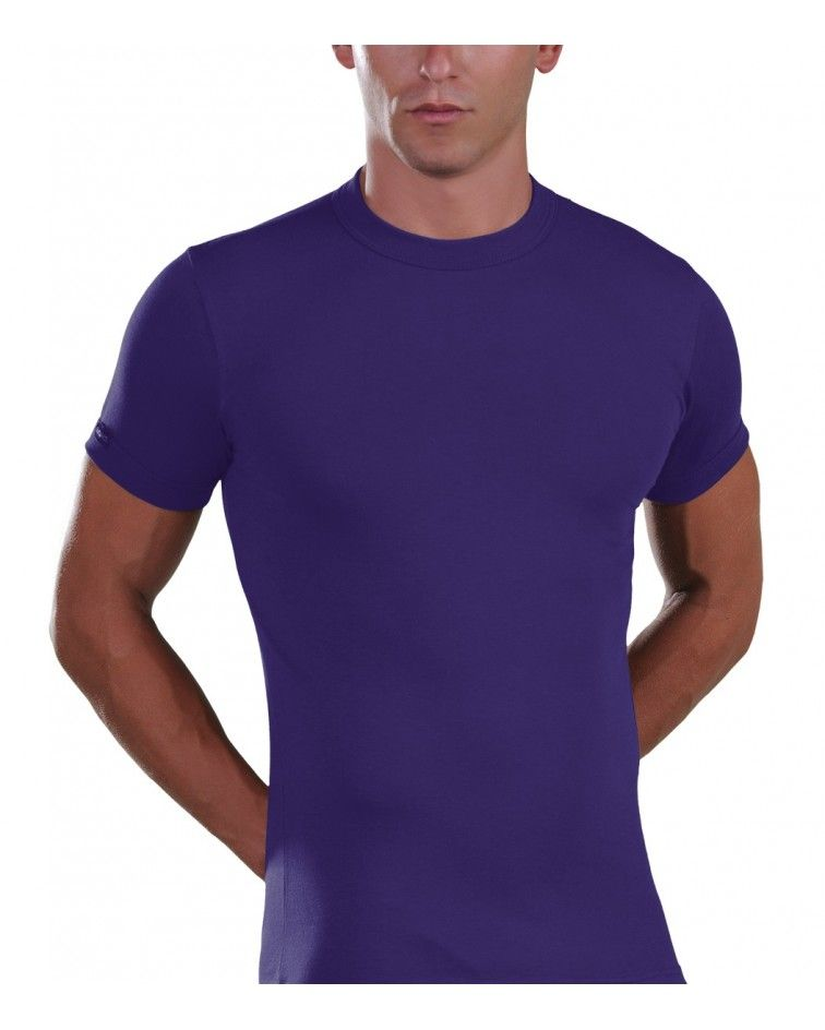 Men, T-Shirt, Elastic, purple
