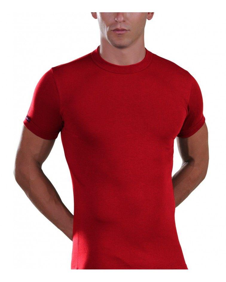 Men, T-Shirt, Elastic, red
