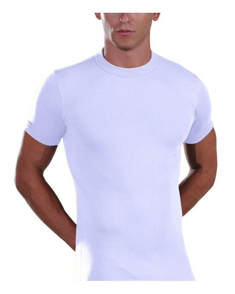 Men, T-Shirt, Elastic, white