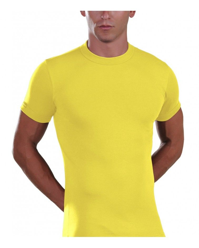 Men, T-Shirt, Elastic, yellow