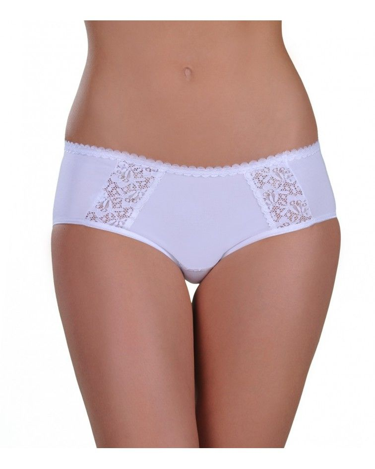 Panty, mini, double lace, white