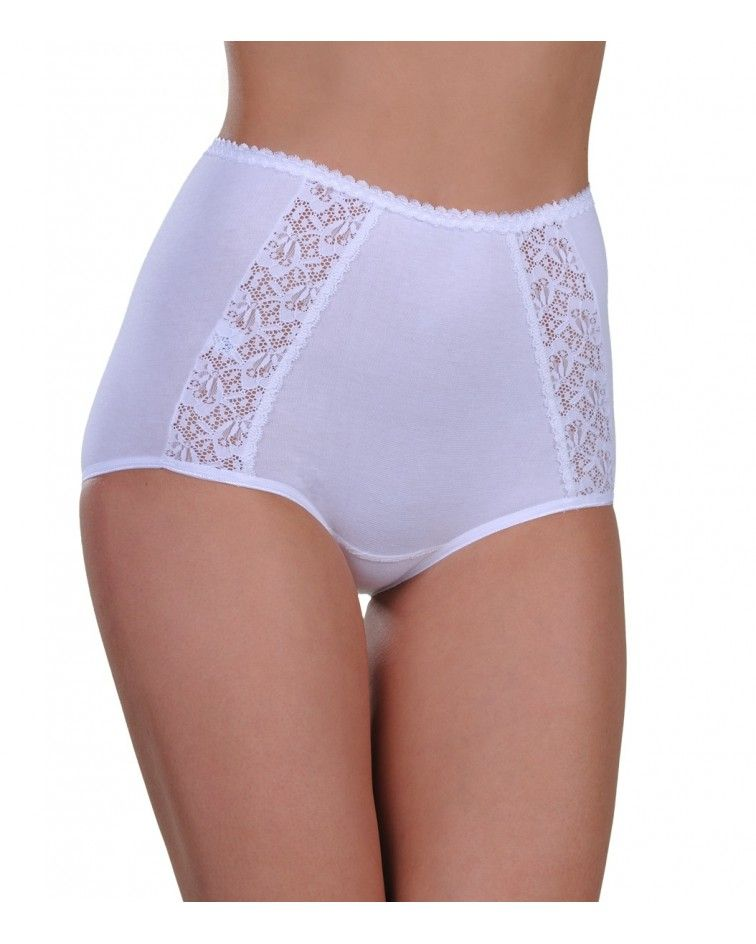 Panty, maxi, double lace,  white