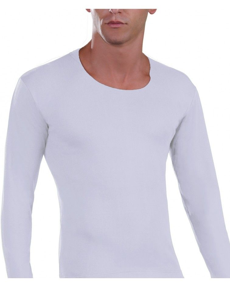 Open Neck T-Shirt, white