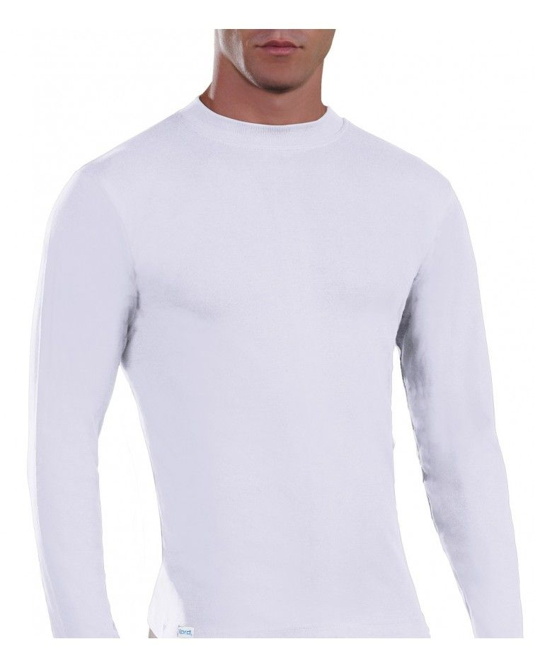 Mens Long sleeve, crew neck, white