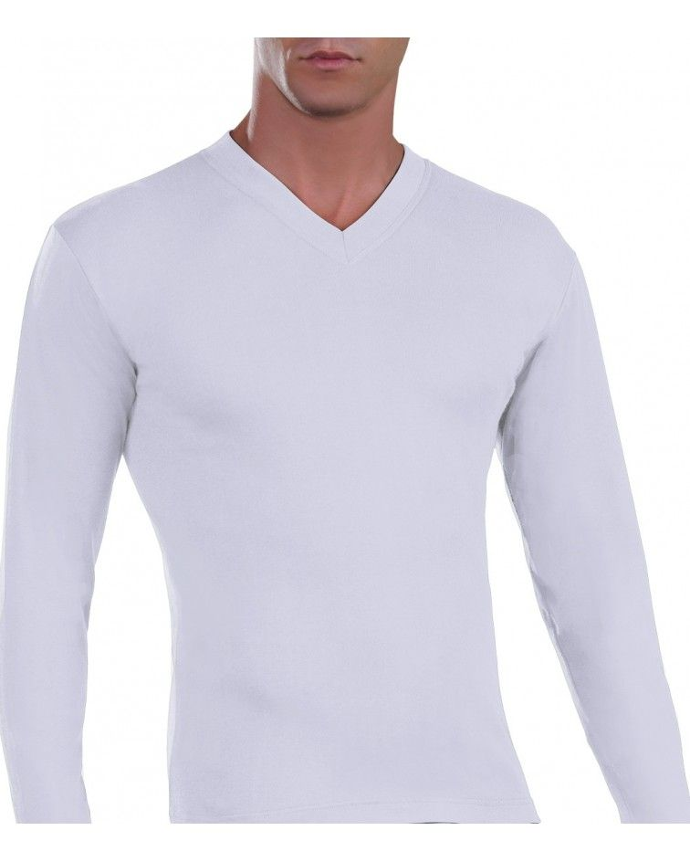 T-Shirt Long Sleeve, V Neck