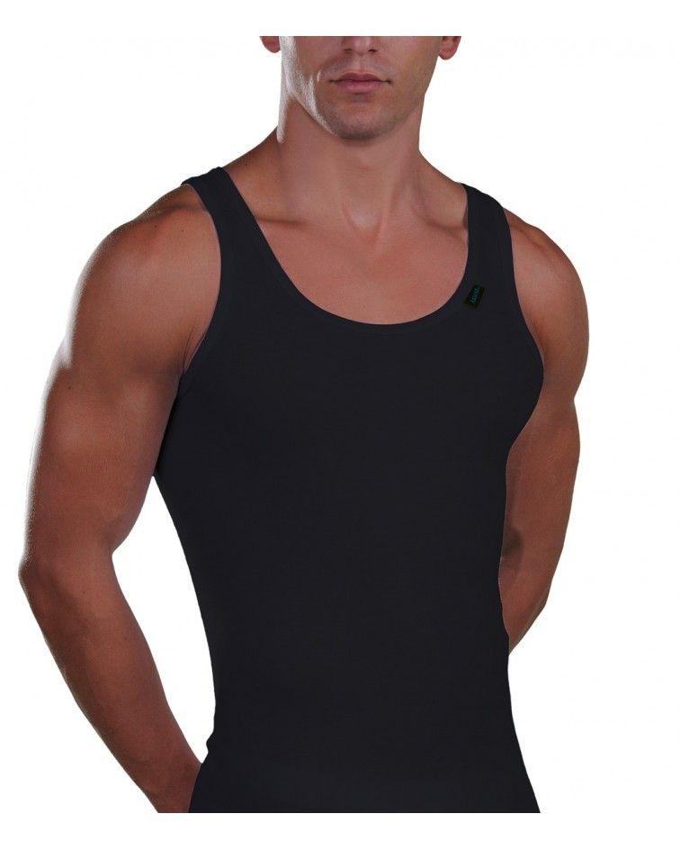 Sleeveless Shirt, cotton, black