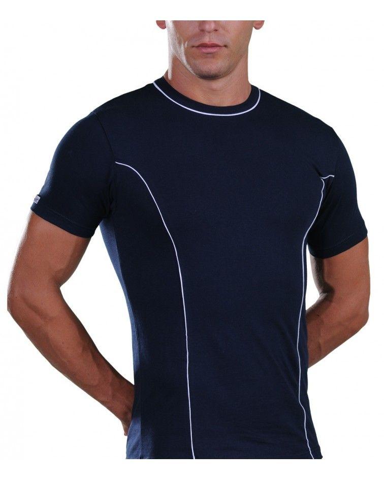 T-Shirt, Stripe, blue