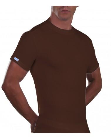 T-Shirt, crew neck, Cotton. brown