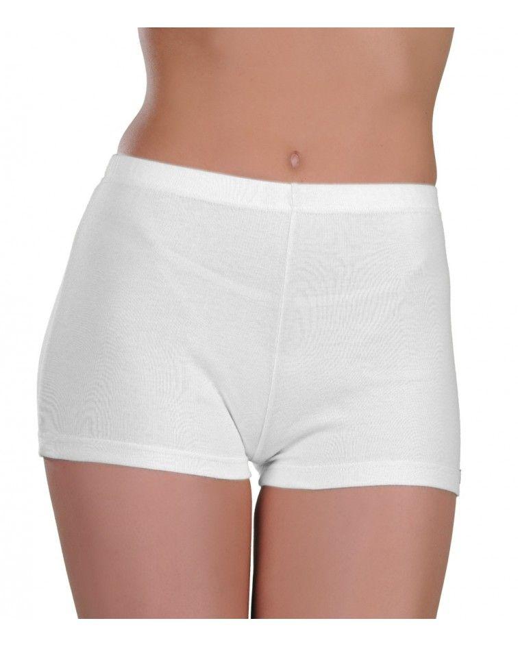 women boxer cotton, white