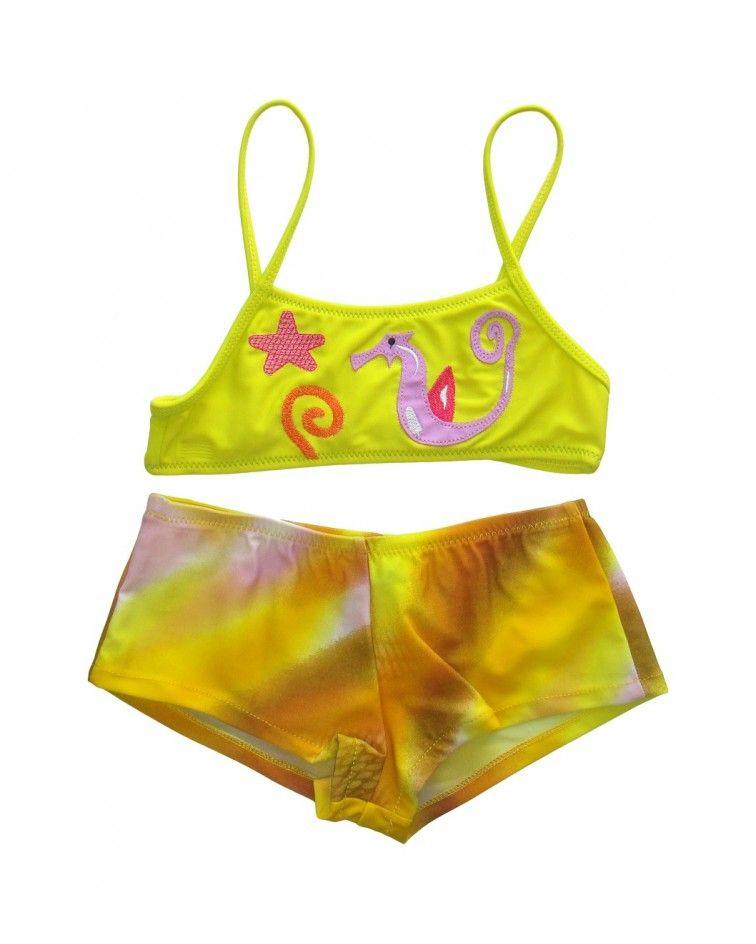 Swimwear seahorse boxer