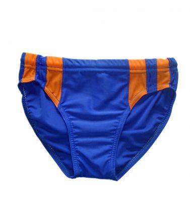 Μαγιό σλιπ μπλε-πορτοκαλί