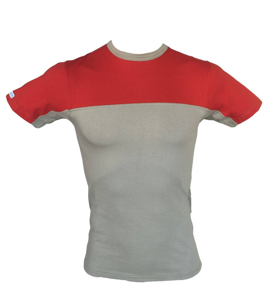 Men T-Shirt, Elastic, Khaki