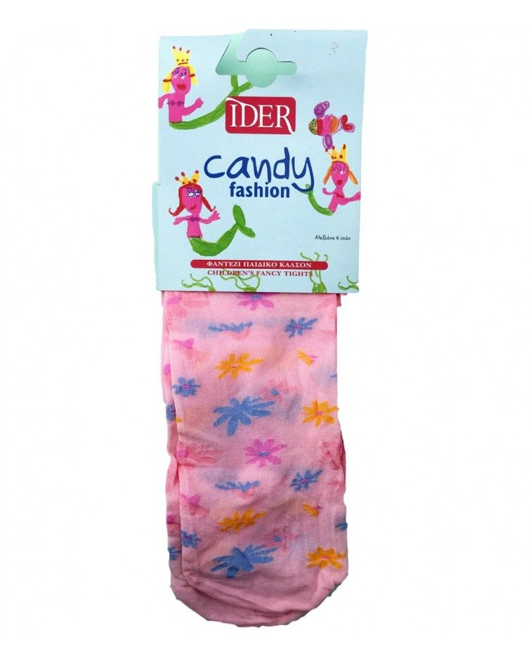 IDER TIGHTS FLOWER, PINK