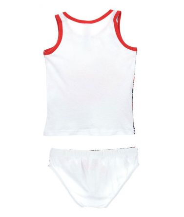 BLAZE SET Tank-Top-Brief, cotton, white