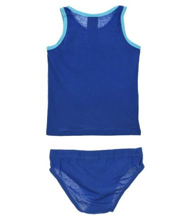 BLAZE SET Tank-Top-Brief, cotton, blue