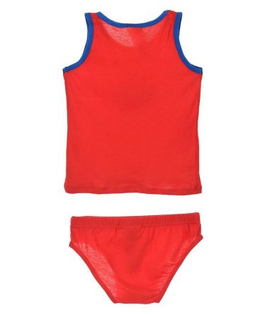BLAZE SET Tank-Top-Brief, cotton, red