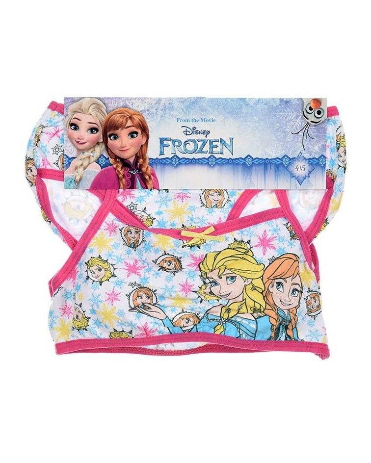 FROZEN SET Bustier-panty, cotton, fuxia