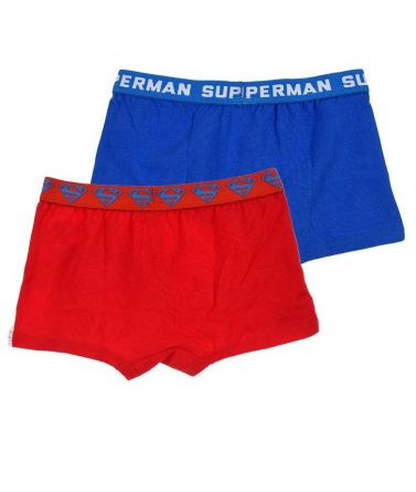 SUPERMAN ΣΕΤ 2 παιδικά μποξεράκια, κόκκινο