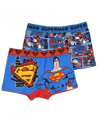 SUPERMAN ΣΕΤ 2 παιδικά μποξεράκια, σιελ