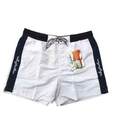 Men Swimwear, shorts, white