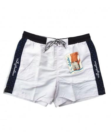 Men Swimwear, shorts, white
