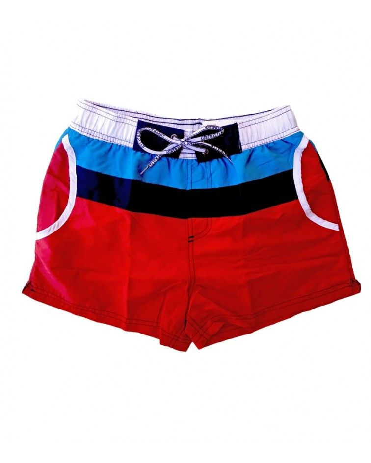 Men Swimwear, shorts, red