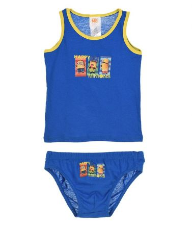 Boys Tank Top & brief set, minions, blue