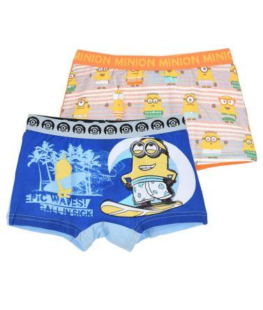 Αγοριών 2 Minions boxers, σιέλ