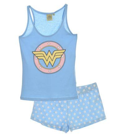 Γυναικείο Set Homewear, πιτζάμα Wonder Woman, Σιέλ