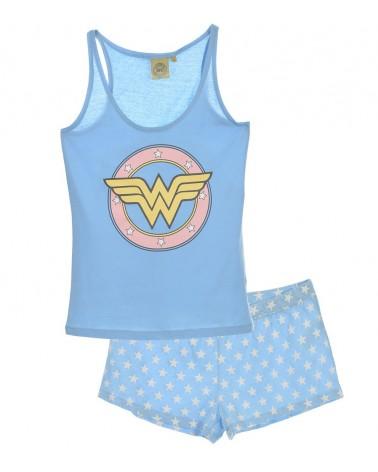 Women Set Homewear, pyjama, Wonder Woman, Ciel