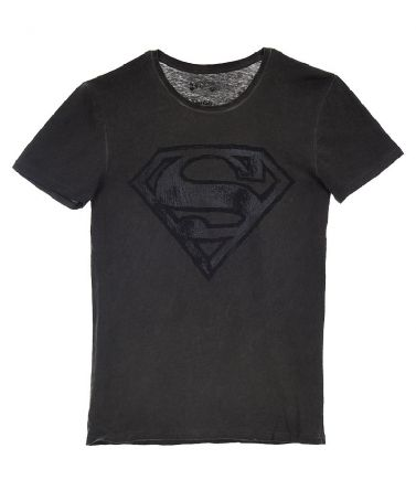 Men T-Shirt, Superman, Charcoal