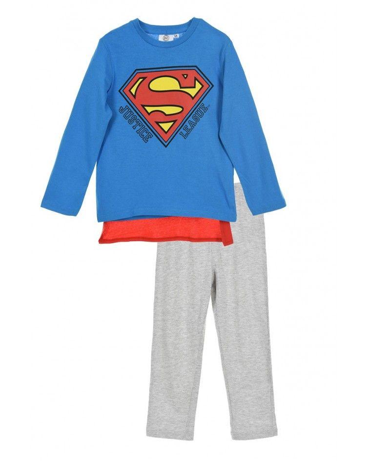 Πιτζάμα Αγοριών χειμερινή SUPERMAN με κάπα