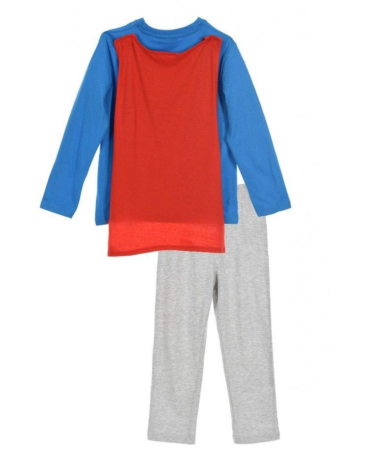 Boys Pyjama winter SUPERMAN with cape