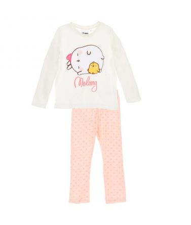 Girls Pyjama, winter, Molang Cream