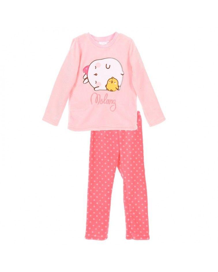 Girls Pyjama, winter, Molang fuxia