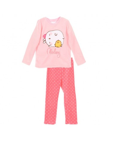 Girls Pyjama, winter, Molang fuxia