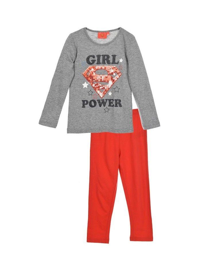 Κοριτσιών Πιτζάμα, SuperGirl κόκκινο