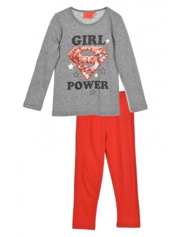 Girls Pyjama, SuperGirl, Red